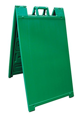 "Plasticade Signicade Curb Sign / A-Frame 24x36"" Color:Green"