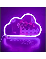 laoonl Leuke Cartoon Cloud LED Neon Teken Decoratieve Lamp, Creatieve Tafel Mood Lights, Home Decor Kleine Nachtlampje voor Slaapkamer