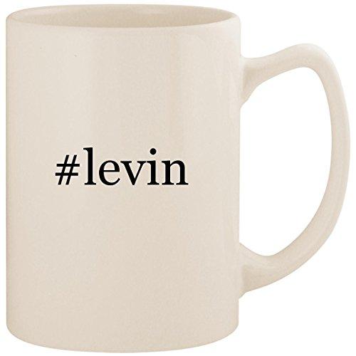#levin - White Hashtag 14oz Ceramic Statesman Coffee Mug ()