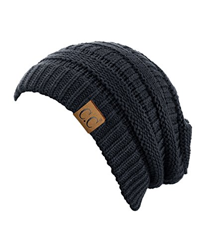 Review Trendy Warm Chunky Soft Stretch Cable Knit Beanie Skully ,Grey,One Size