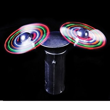 Light-Up Double Spinning Hand Fan