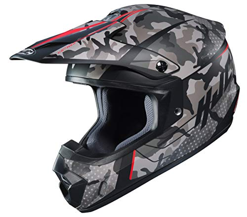 - HJC Unisex-Adult Off Road Motorcycle helmet CS-MX II Sapir Graphic (MC-1SF Grey/Black/Red, Large)
