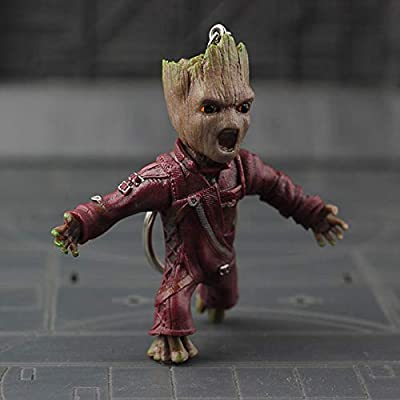 1,99 Shop Generic PVC Figure Key Chain Figures Baby Groot Wave (Anger): Toys & Games