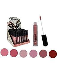 Set of 6 Colors Madly MATTE Lipgloss Bold & Vivid Color...
