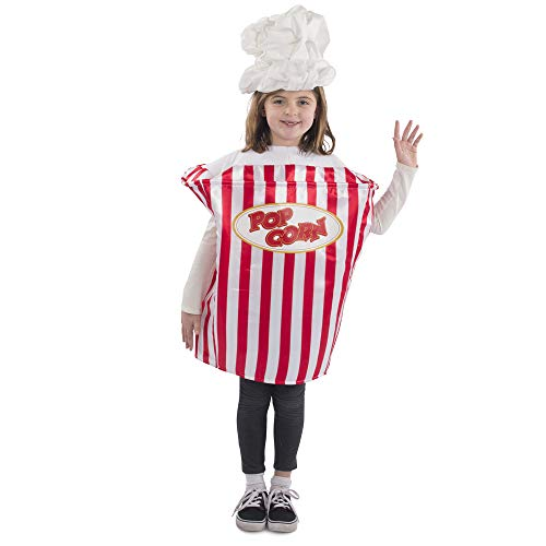 Dress Up America Popcorn Movie Night Costume for Kids (T4/S)