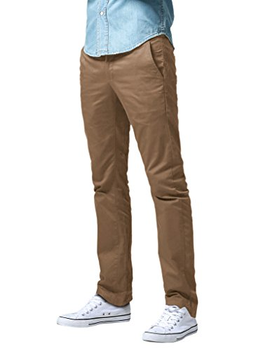 Sons Men Pants (Match Men's Slim Fit Straight Leg Casual Pants (29, 8036 Camel))