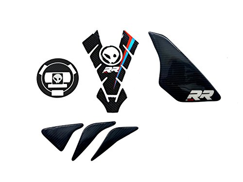 Real Carbon Fiber Decal Triple tree Side Protector Tank Pad For BMW S1000RR 2009-2017