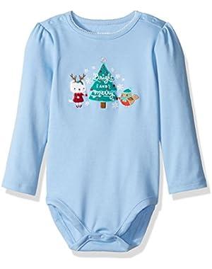 Baby Girls' Long Sleeve Holiday Bodysuit
