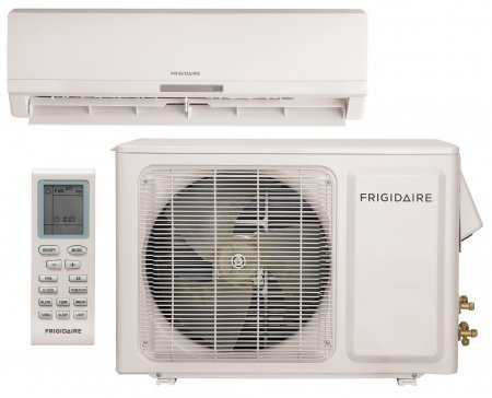 """Frigidaire FFHP122Q2 34"""" Split System Unit with Heat Pump 12 000 BTU's Cooling Capacity/13 000 BTU's Heating Capacity Effortless Remote Control Energy Star Rated and Whisper-Quiet Operation:"""