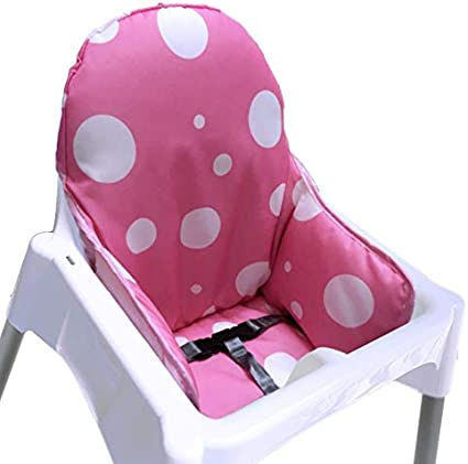 ZARPMA IKEA Antilop Highchair Cushion, New Version Baby Highchair Seat Covers, More Thick, Washable & Foldable, Child Chair Insert Mat Padding (Pink)