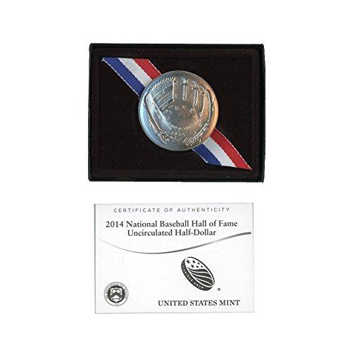 - 2014 D Baseball Hall of Fame Clad Half Dollar 50c Brilliant Uncirculated