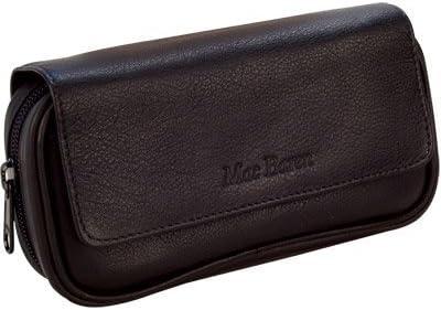Black Tobacco Zipper Pouch W// One Pipe Compartment Tobacco Pouch W// Pipe Bag