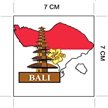 BALI Island Indonesia National Flag and Map Sticker for customization of favorite items such as suitcases