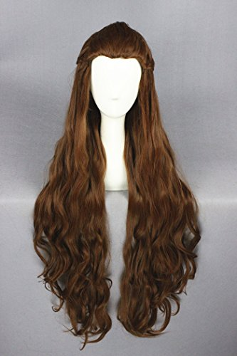 Womens Angelina Brown Wig (Prettybuy 35