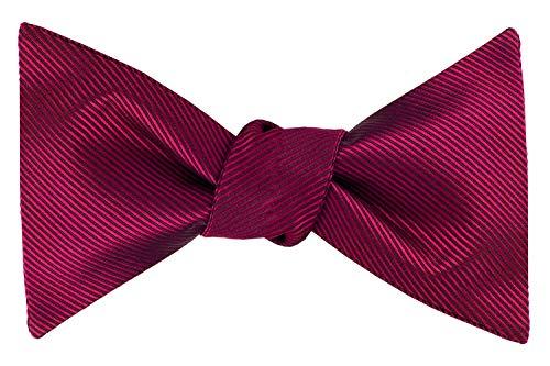 Formal Bow Ties for Men - Self Tie Mens Bowtie Tuxedo Wedding Bow Tie Bowties (Burgundy Stripe)