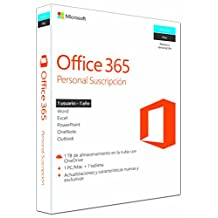 Microsoft Office 365 Personal para Windows y Mac - 1 Usuario Pc/Mac + 1 Usuario Tableta