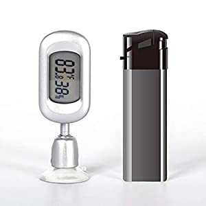WACOOL Mini Digital Reptile Thermometer Hygrometer with Suction Cup, Electronic Temperature Humidity Meters LCD Display Fahrenheit (â??) for Humidors, Greenhouse, Garden, Cellar, Fridge, Closet