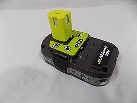 Ryobi P107 One+ 18 Volt Compact Lithium Ion 1.5 Ah Battery (Single Battery) (Ryobi P108 Charger)