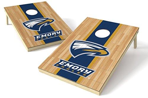 - Wild Sports NCAA College Emory 2' x 3' Hardwood Cornhole Game Set