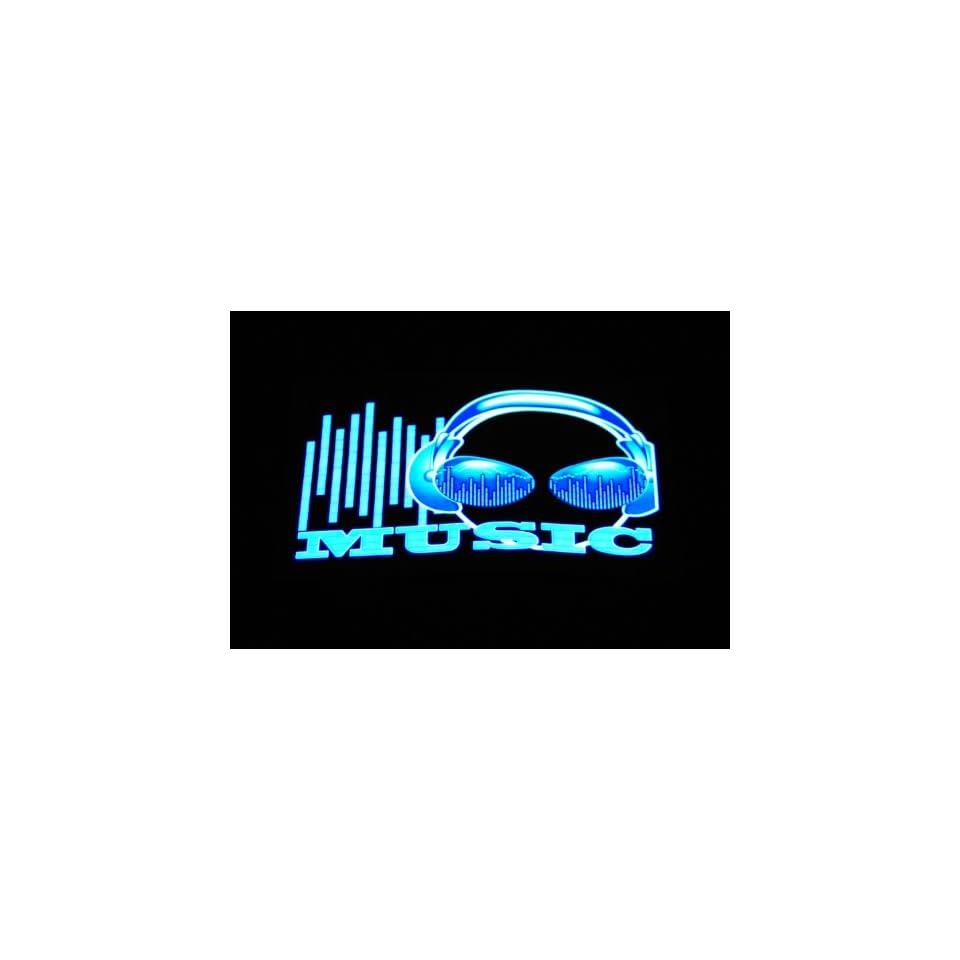 Sound Activated Flashing LED Equalizer T Shirt T Qualizer   Music Headphone (Men)
