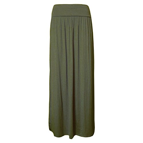 Gonna Khaki Lungo Gypsy nbsp;– Zj Intera Jersey nbsp;14 Clothes Donna Risvolto Vita Maxi Lunghezza 8 q8Z6v8