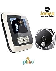 Plick - James - Mirilla electrónica digital con pantalla extraplana, con visión nocturna y posibilidad de tomar fotos y vídeos