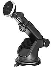 Baseus Solid Teleskopik Vantuzlu, Mıknatıslı Araç İçi Telefon Tutucu (Torpido Versiyon), Gümüş