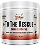 Natural Dog UTI Treatment - Cranberry for Dogs, Bladder and UTI Support for Dogs - Bladder Infection Relief with D-Mannose 120 Chicken Flavored Soft Chews +To The Rescue+