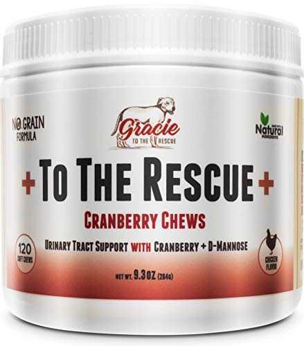 +To The Rescue+ Cranberry for Dogs - Natural Dog UTI Treatment, Bladder and UTI Support for Dogs - Bladder Infection Relief with D-Mannose 120 Soft ()