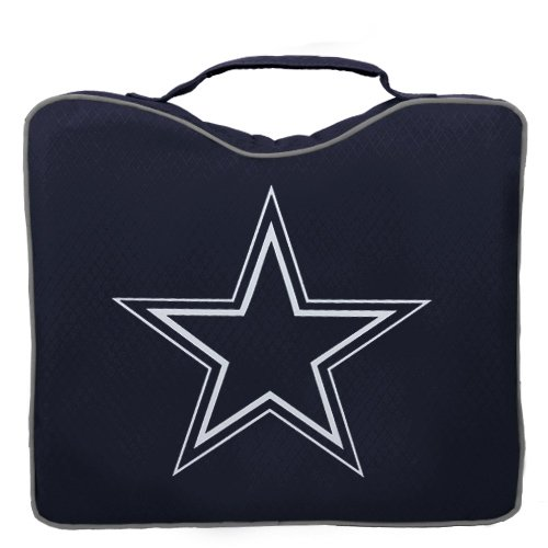 NFL Lightweight Stadium Bleacher Seat Cushion with Carrying Strap, Dallas Cowboys