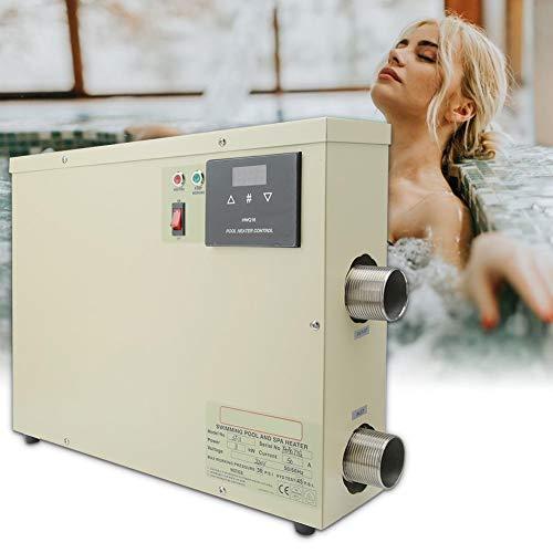 【𝐑𝐞𝐠𝐚𝐥𝐨 𝐝𝐞 𝐍𝐚𝒗𝐢𝐝𝐚𝐝】 Calentador Agua Piscina, Termostato Digital Inteligente Prueba de Agua Termostato Piscina SPA Banera de hidromasaje Calentador de Agua electrico Bomba Asistente term