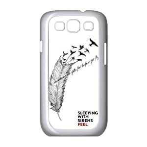 Mystic Zone Custom Sleeping with Sirens Hard Cover Case for Samsung Galaxy S3 Back Fits Cases SSI0183