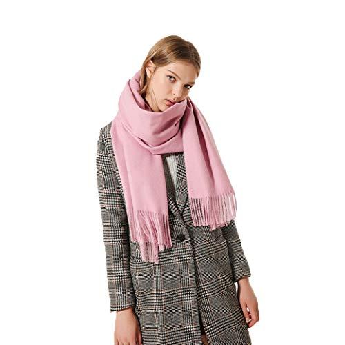 Boomdan Womens Large Soft Imitation cashmere Feel Shawls Wraps Light Scarf Multifunctional warm shawl (Pink) by Boomdan (Image #4)