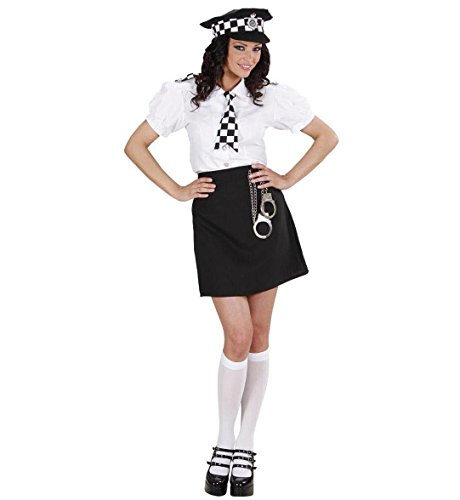 Ladies British Police Girl Costume Small Uk 8-10 For Cop Fancy Dress
