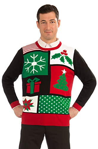 Ugly Christmas Sweater Adult Clothing Jolly Holiday - X-Large - Mens Naughty Elf Costume