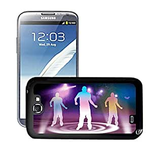 Blazing Colour Dancing People1 Pattern 3D Effect Hard Case for Samsung Galaxy Note II N7100