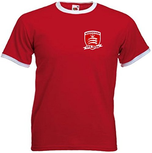fan products of Brentford FC The Bees Football Club Retro Soccer T-Shirt - All Sizes (Large)