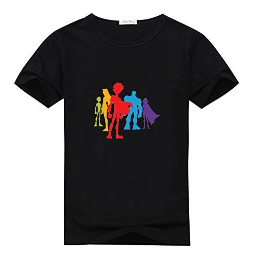 Fancesca Teen Titans Silhouettes Logo Men's Classic Top T-shirt XXXL Black ()