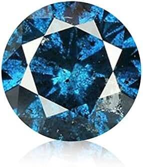 Round Brilliant Earth-mined Fancy Blue Diamond Loose (I1)
