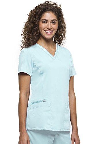 healing hands Purple Label Women's Jasmine 2278 V-Neck Top Scrubs- Aqua Mist- -