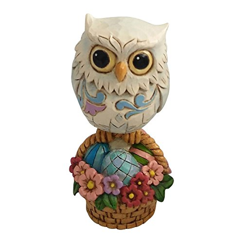 Enesco Jim Shore Heartwood Creek Mini Easter Owl on Basket