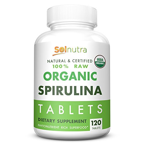 Raw Organic Spirulina Tablets | Natural & Certified 100% Organic (USDA, EU) USP Verified | Vitamin-Packed, Phytonutrient Rich Superfood | Non-GMO, Gluten Free | Vegan, Kosher, Halal