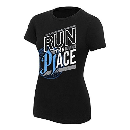 WWE AJ Styles Run The Place Women's T-Shirt Black XL by WWE Authentic Wear