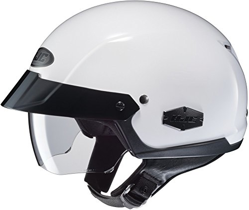 (HJC IS-Cruiser Half-Shell Motorcycle Riding Helmet (White, Large))