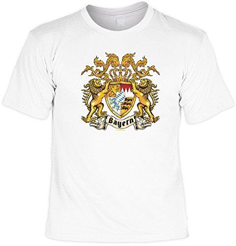 T-Shirt - Bayern Löwenwappen - Hochwertiges Motiv Shirt als Geschenk für Bayern Fans