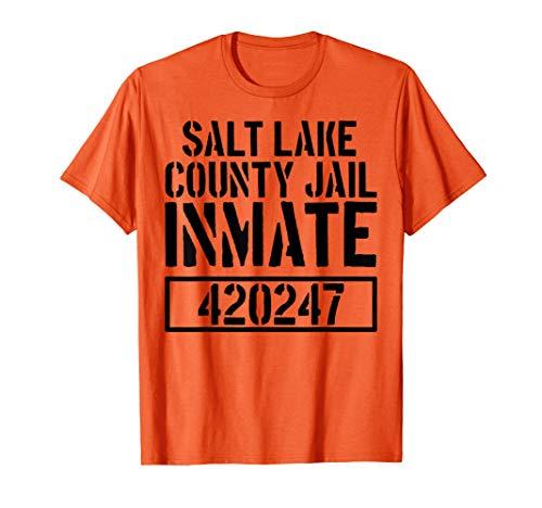 Salt Lake Costumes - Salt Lake County Jail Inmate T Shirt - Funny Prison Costume