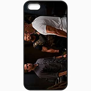 Personalized iPhone 5 5S Cell phone Case/Cover Skin Fast and furious 6 fast six paul walker brian oconner vin diesel dominic toretto dwayne johnson luke hobbs Movies Black