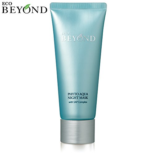 Night Sleeping Mask [Eco Beyond] Phyto Aqua Face Overnight Cream Pack 100mL/3.38Oz (Good Night Cream For Acne Prone Skin)