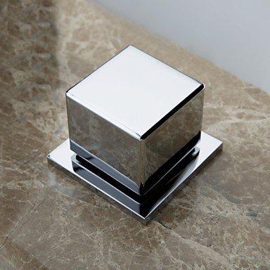 Moderne Moderne Moderne Deckenmontiert Wasserfall Messingventil Drei Löcher Zwei Griffe Drei Löcher Chrom, Waschbecken Wasserhahn a579a9