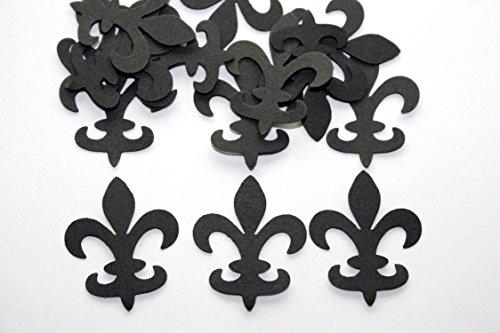 Black Fleur de Lis Confetti (100 count)